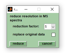 "Screenshot of the window ""reduce resolution"""